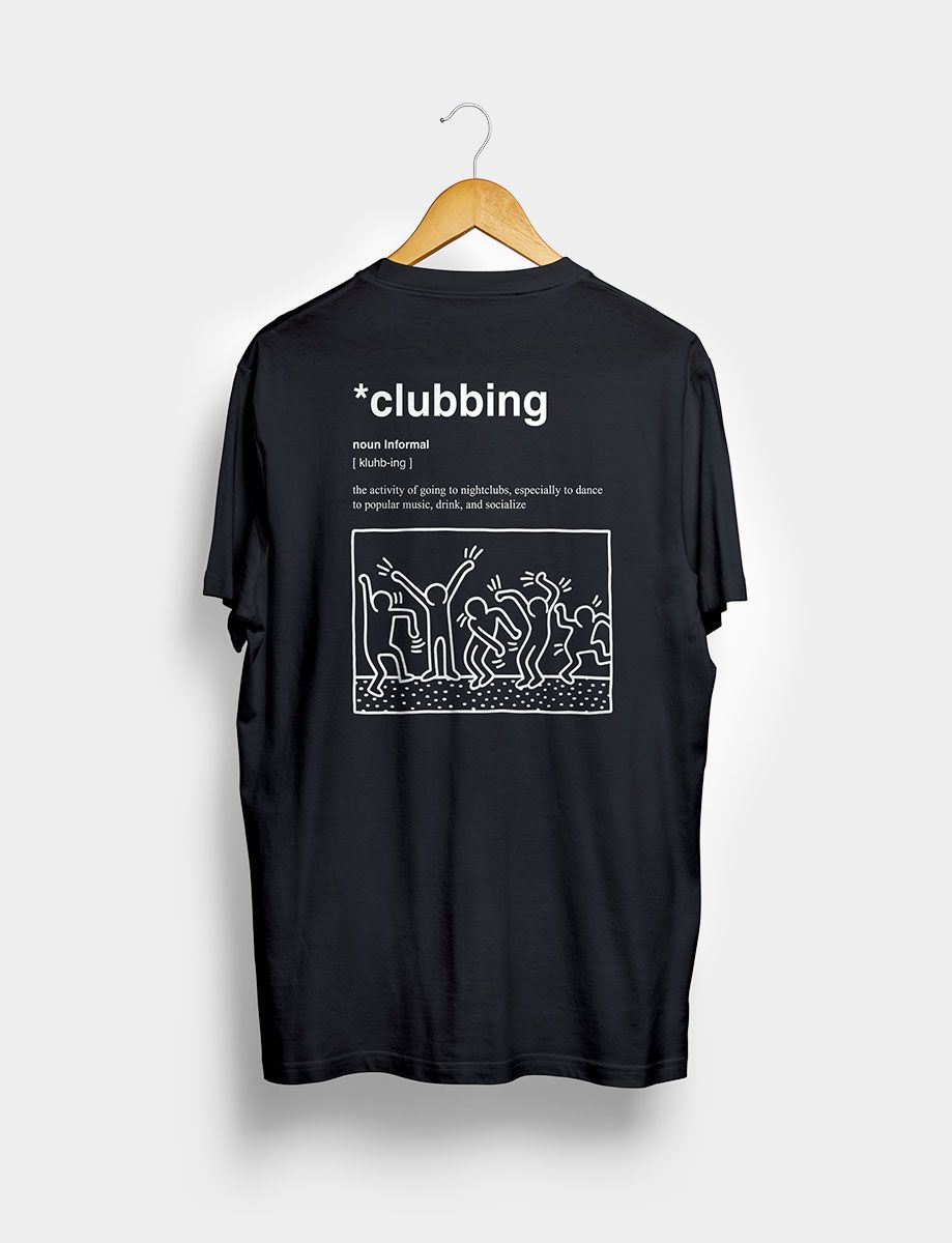 Camiseta Clubbing Negra Trasera