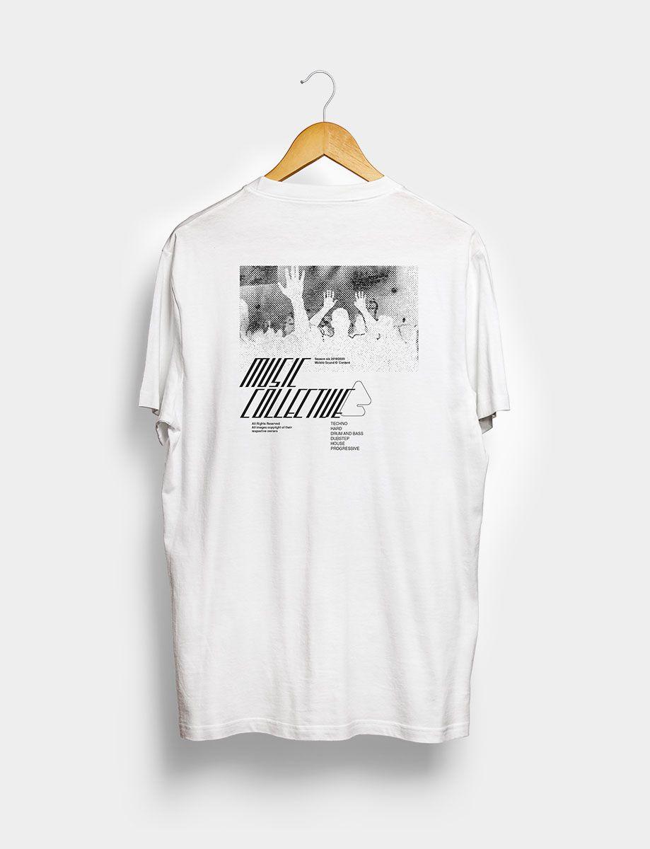 Camiseta Music Collective Blanca Trasera