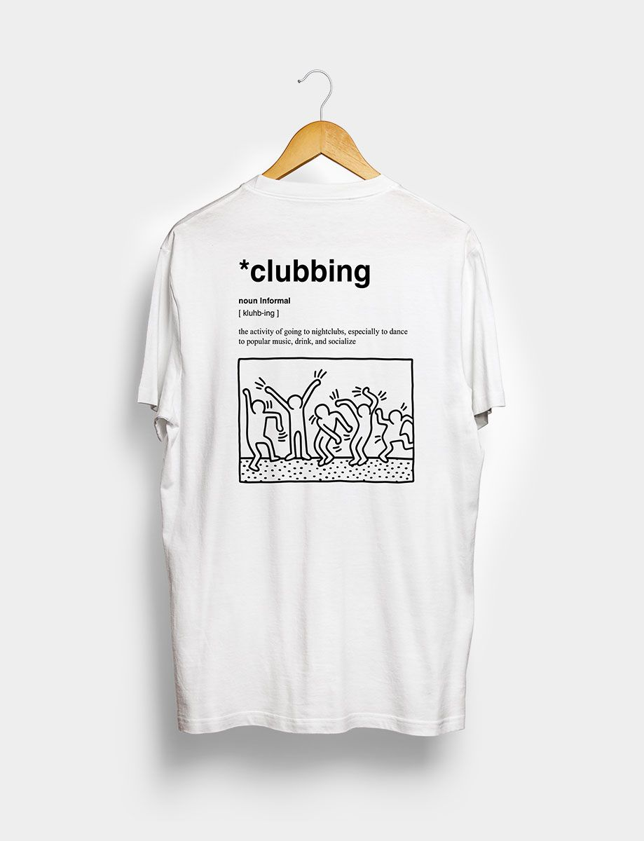 Camiseta Clubbing Blanca Trasera