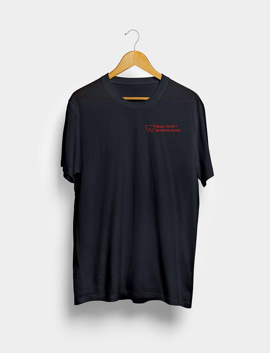 Camiseta Music Pill Negra Frontal