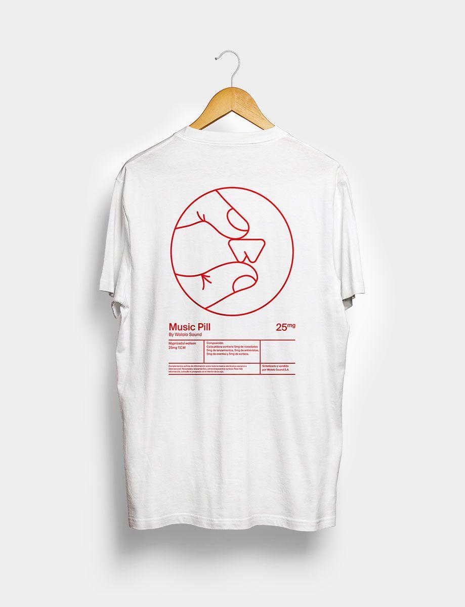 Camiseta Music Pill Blanca Trasera