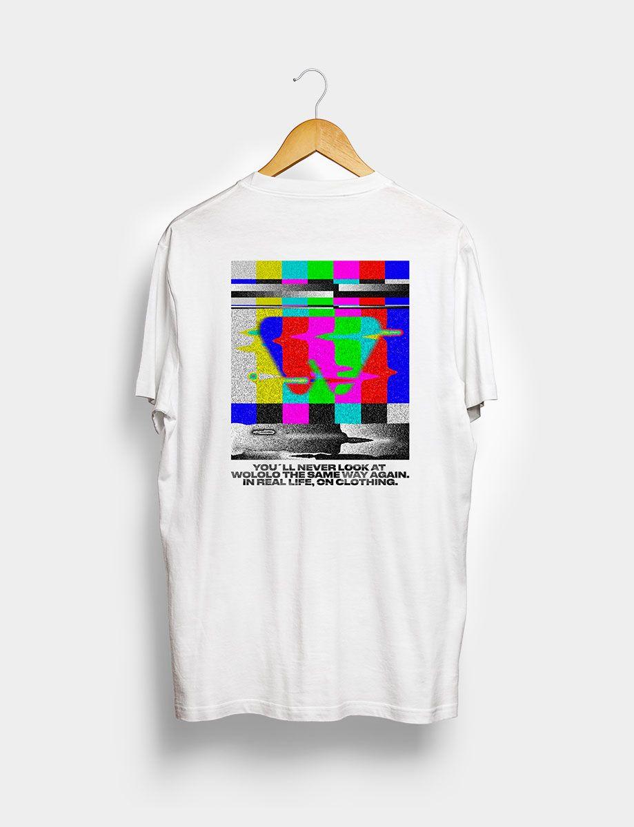 Camiseta Wololo TV Blanca Trasera