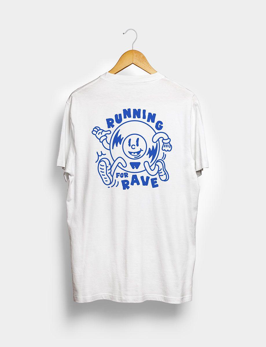 Camiseta Running for Rave Blanca Trasera