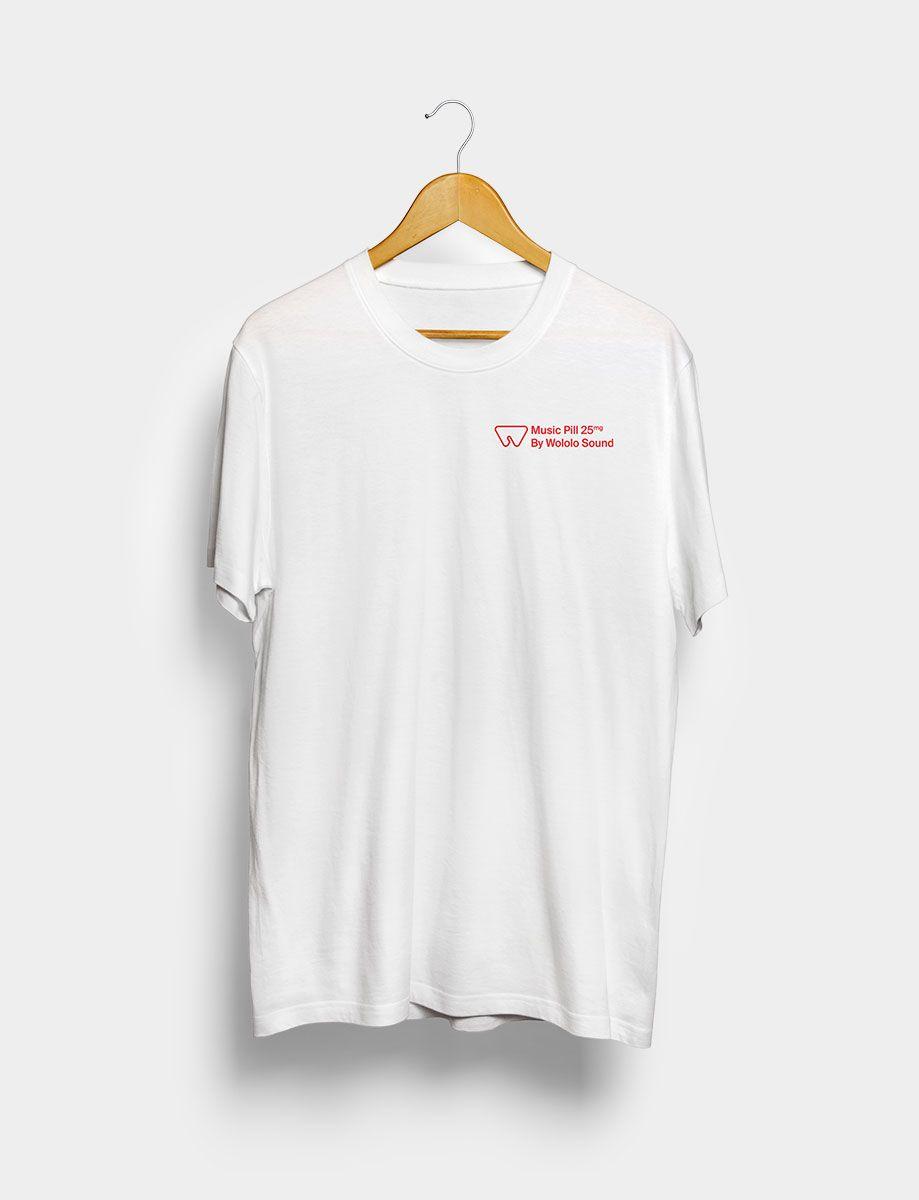 Camiseta Music Pill Blanca Frontal