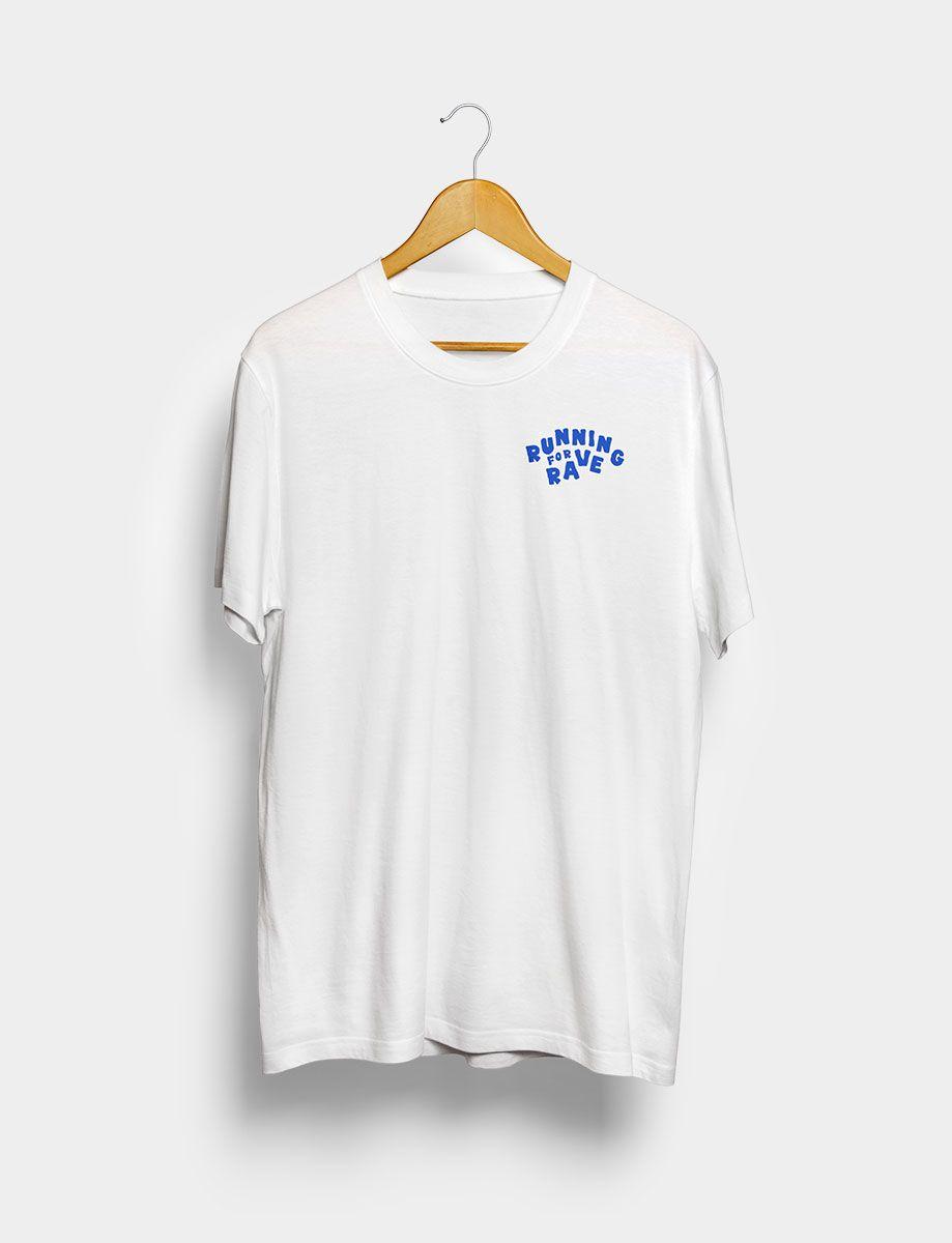 Camiseta Running for Rave Blanca Frontal