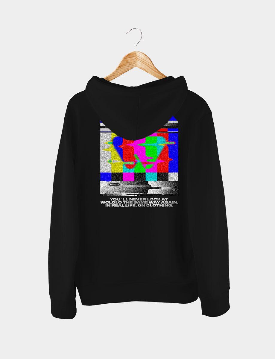 Sudadera Wololo TV Con Gorro Negra Trasera